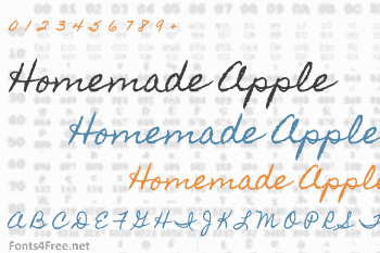 Homemade Apple Font