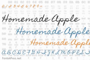 Homemade Apple Font