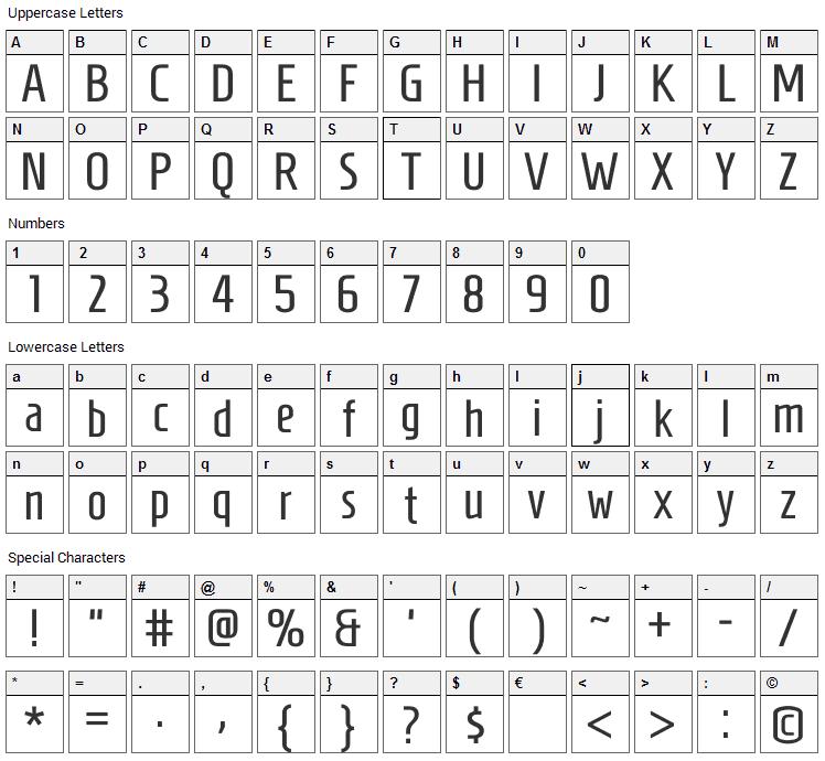 Homenaje Font Character Map