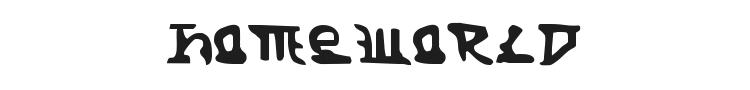 Homeworld Font Preview