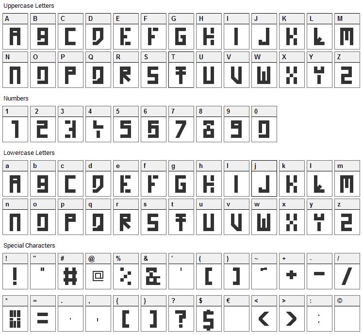 Homo Novis Font Character Map