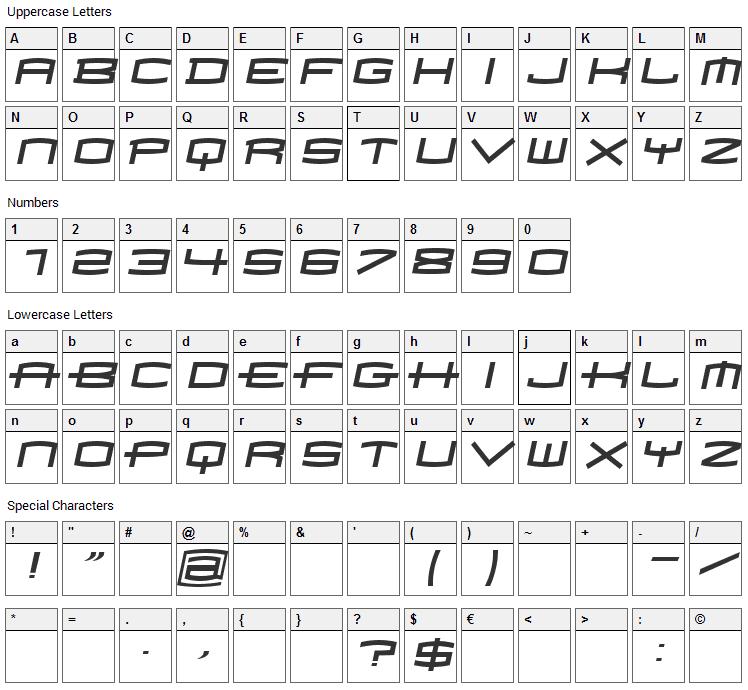 Homoarakhan Font Character Map