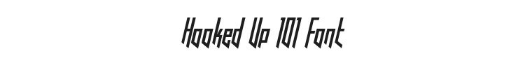 Hooked Up 101 Font Preview