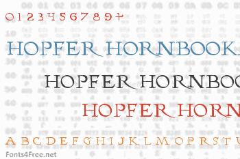 Hopfer Hornbook Font
