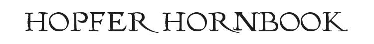 Hopfer Hornbook Font Preview