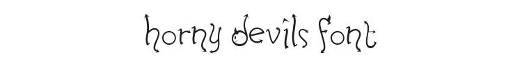 Horny Devils Font