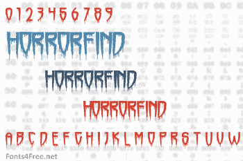 Horrorfind Font