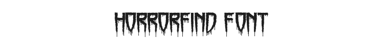 Horrorfind Font Preview
