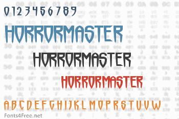 Horrormaster Font