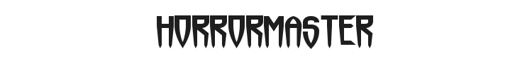 Horrormaster Font Preview