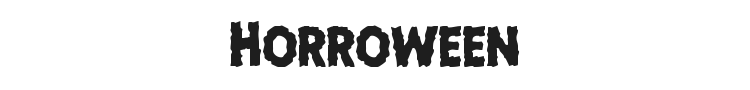 Horroween Font Preview