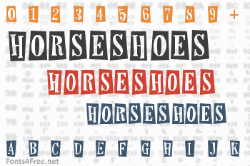 Horseshoes and Lemonade Font