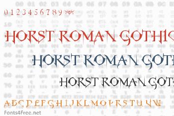 Horst Roman Gothic Font