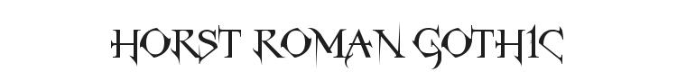 Horst Roman Gothic Font Preview