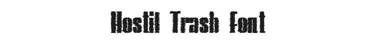 Hostil Trash Font Preview