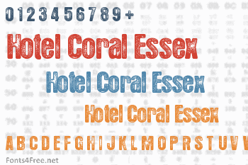Hotel Coral Essex Font