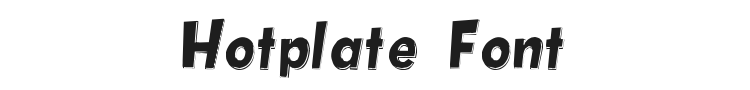 Hotplate Font Preview