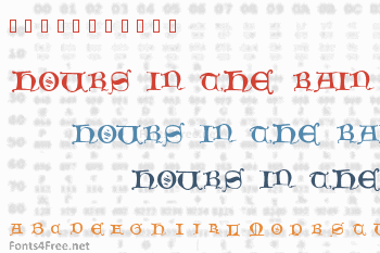 Hours in the Rain Font