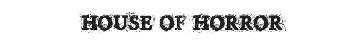 House of Horror Font Preview