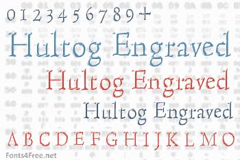 Hultog Engraved Font