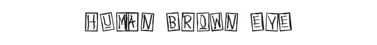 Human Brown Eye Font