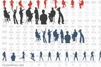 Human Silhouettes Font