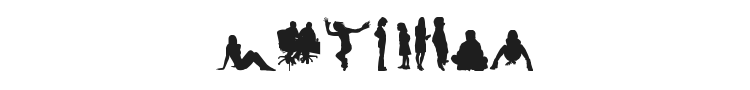 Human Silhouettes Free Four Font Preview