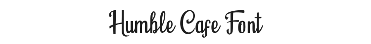 Humble Cafe Font Preview