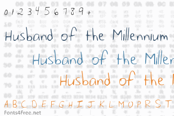 Husband of the Millennium Font