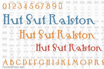 Hut Sut Ralston Font