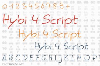 Hybi 4 Script Font