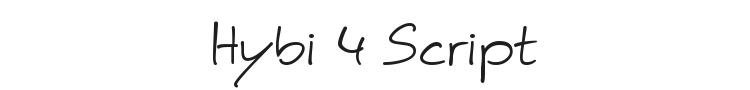 Hybi 4 Script Font Preview