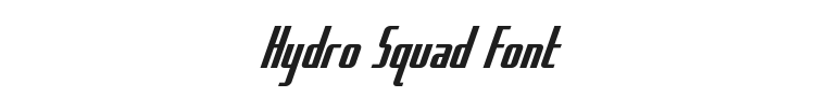 Hydro Squad Font Preview