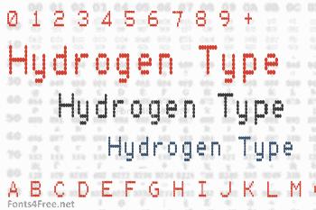 Hydrogen Type Font