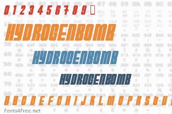 HydrogenBomb Font