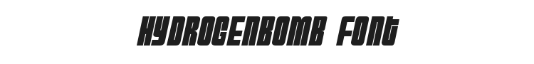 HydrogenBomb Font Preview