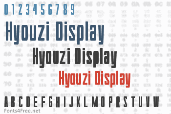 Hyouzi Display Font