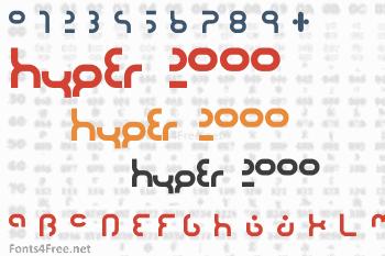 Hyper 2000 Font