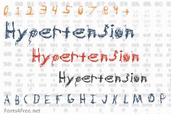 Hypertension Font