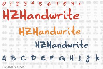 HZHandwrite Font