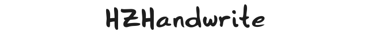 HZHandwrite Font Preview