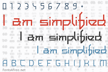I am simplified Font