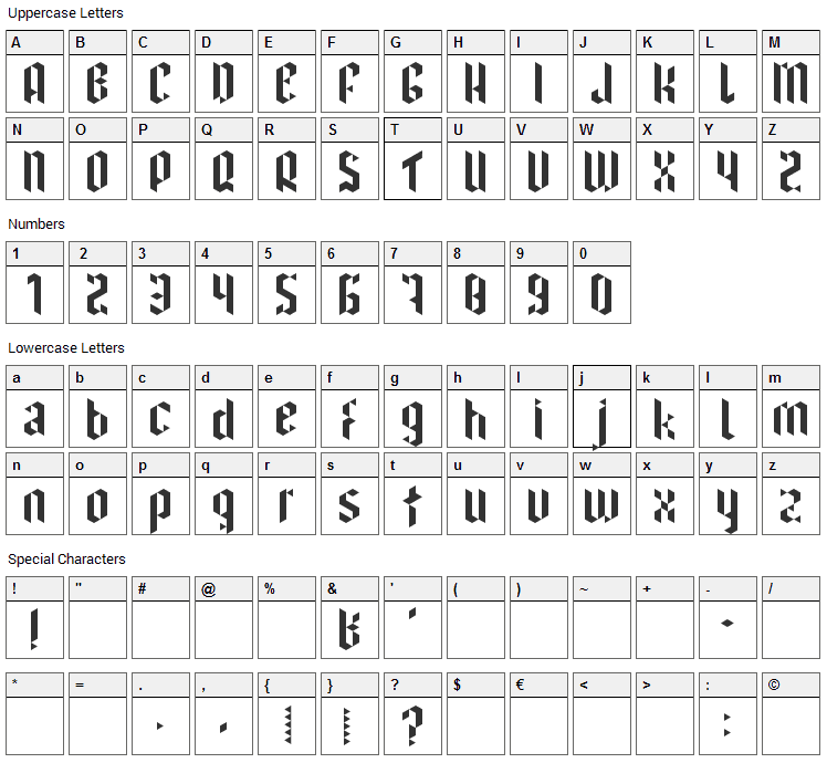 I have been waiting for you Font Character Map