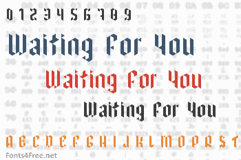 I have been waiting for you Font
