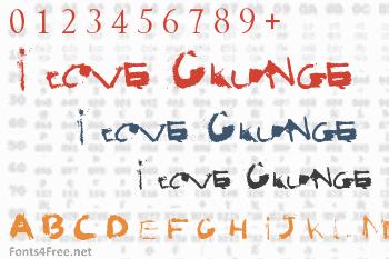 I love Grunge Font