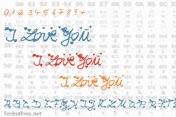 I Love You Font