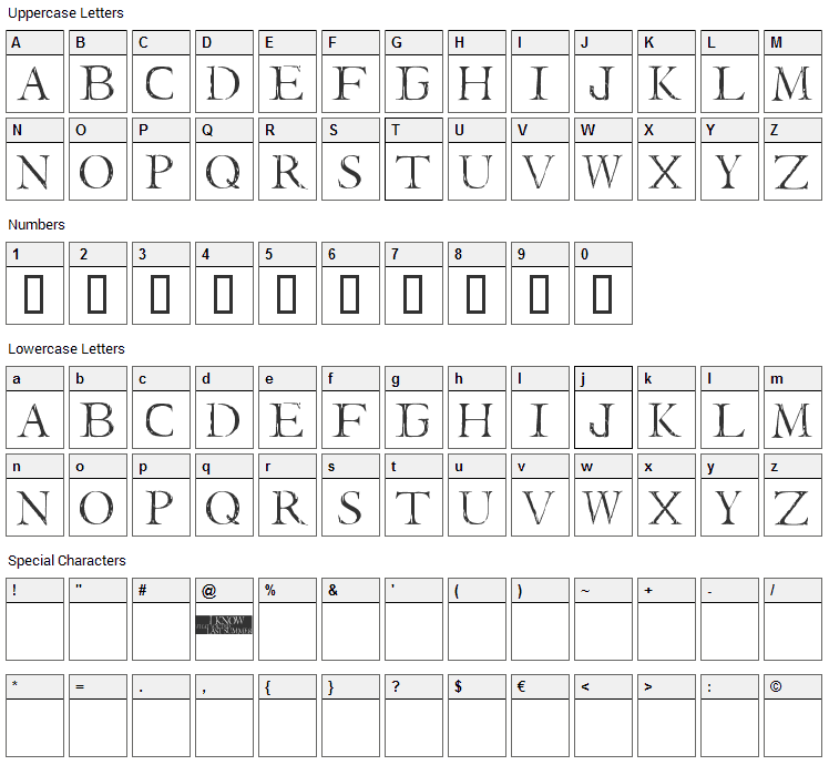 I Still know Font Character Map