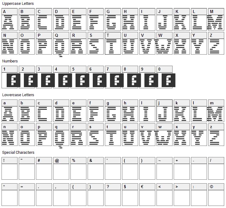 IBM Logo Font Character Map