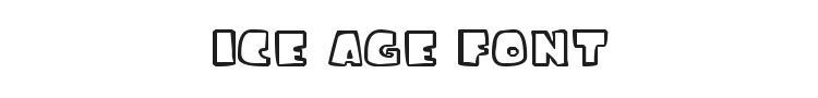 Ice Age Font Preview