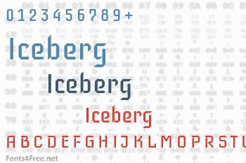 Iceberg Font